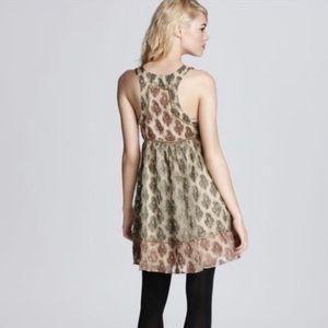 FREE PEOPLE | Metallic Studded  Brocade Dress Sz 4
